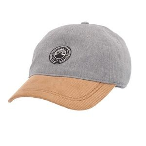 Roxy Women's Dad Hat Corduroy Grey Yellow Gold NWT